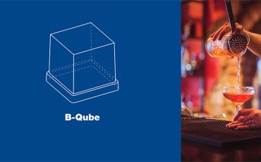 B-Qube. Nueva forma de cubito de hielo.